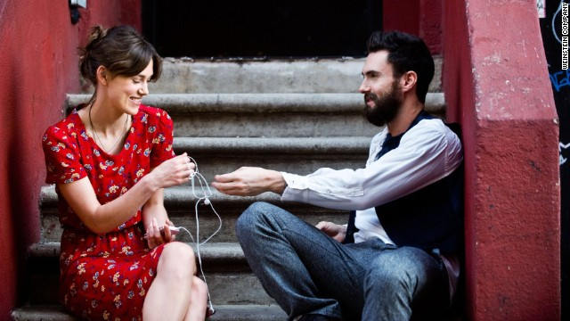 Adam Levine and Keira Knightley in the 2013 film Begin Again.