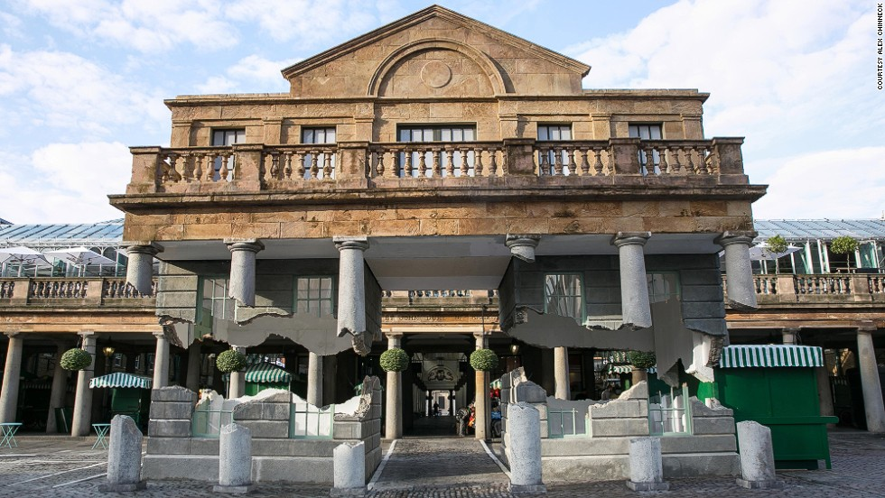 "<em>Take My Lighting, But Don't Steal my Thunder</em>, a ""floating"" plastic building, opened in London's Covent Garden just days before the melting house. It was a major tourist draw, and led to an 18 percent increase in footfall for the surrounding shops."