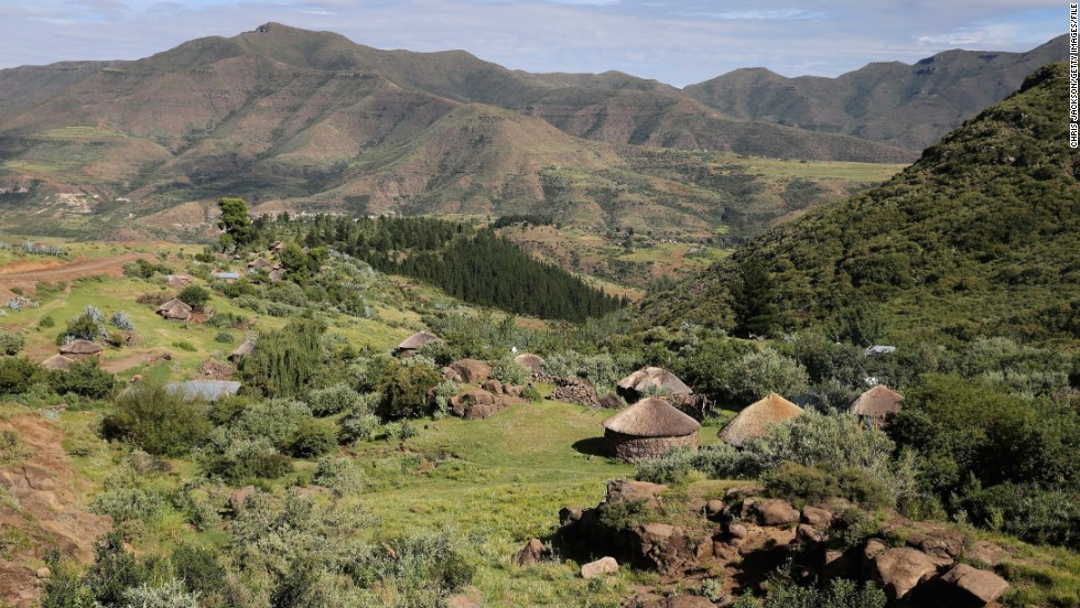 "The scene from Maseru, Lesotho explains why the landlocked country is often referred to as the ""Kingdom in the Sky."""