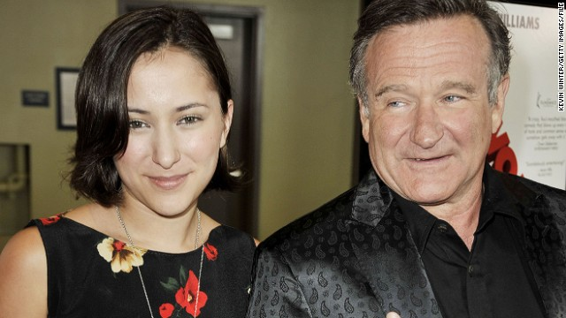 Zelda and Robin Williams attend a premiere in 2009.