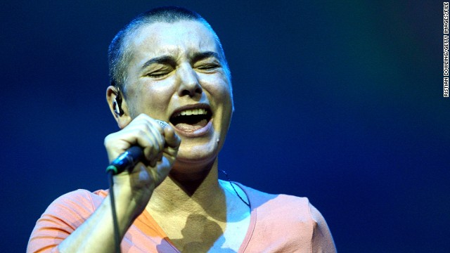BYRON BAY, AUSTRALIA - MARCH 21: Sinead O'Connor performs on stage during day two of the East Coast Blues & Roots Festival on March 21, 2008 in Byron Bay, Australia. (Photo by Kristian Dowling/Getty Images).