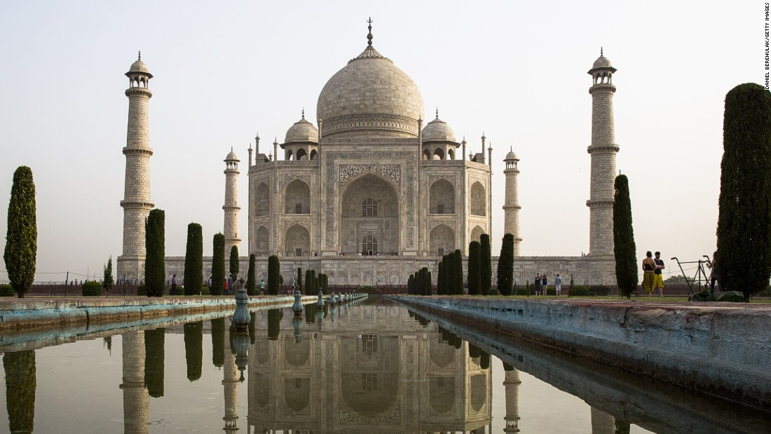 Completed in 1643, the Taj Mahal was built by the Mughal emperor Shah Jahan in memory of his third wife, Mumtaz Mahal, who is buried there alongside Jahan. The site is visited by four million tourists each year.