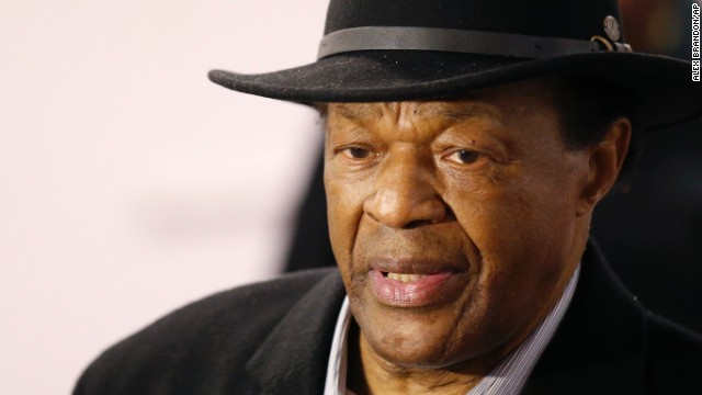 FILE - Former Mayor and current DC City Council member Marion Barry arrives at a media availability to endorse Mayor Vincent Gray's bid for re-election, in this, March 19, 2014 file photo taken in Washington. Barry, who staged a comeback after a 1990 crack cocaine arrest, died early Sunday morning Nov. 23, 2014. He was 78. (AP Photo/Alex Brandon/AP)
