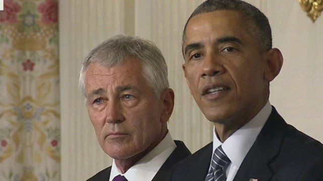 Obama announces Hagel's resignation