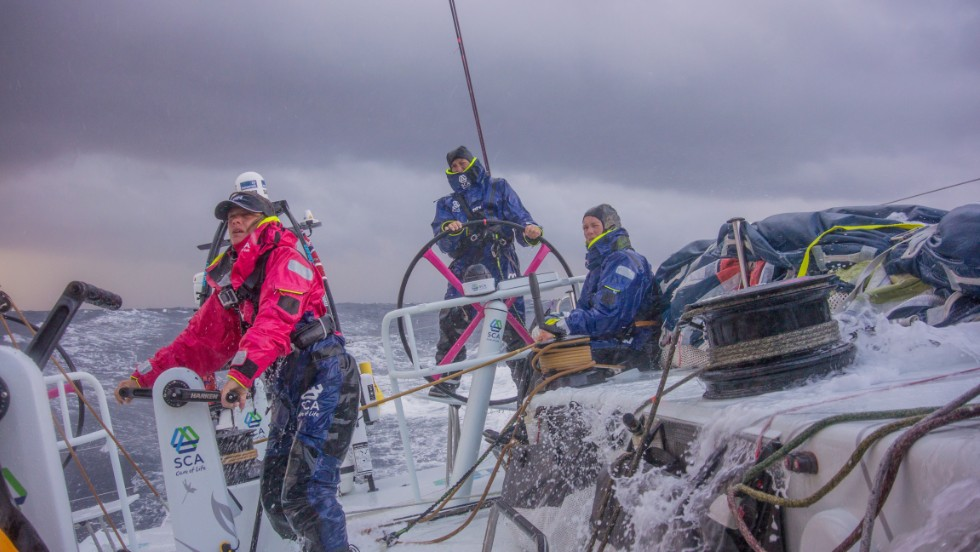 """Even for these professional sailors about to set off around the planet, this course made them stop and think. It made them prioritize their safety and practice survival techniques as they would any other sailing maneuver. It made them stop assuming somebody else had it covered,"" said Robertson."