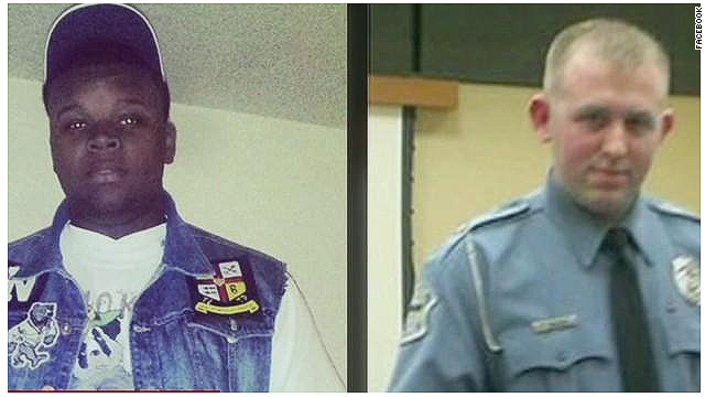 Michael brown and Darren Wilson split