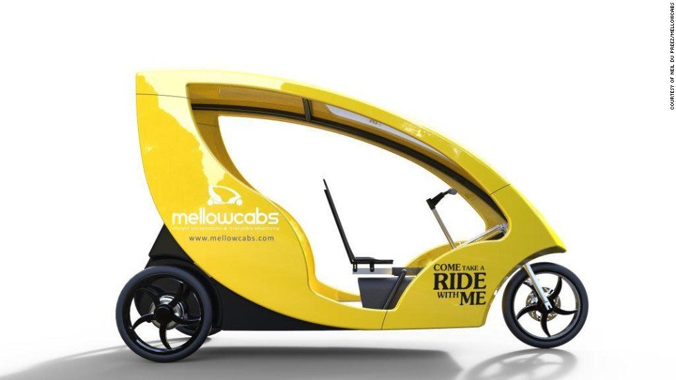 "We take a look at some of South Africa's most innovative start ups. These urban electric cabs -- <a href=""http://www.mellowcabs.com/"" target=""_blank"">Mellowcabs</a> -- have an estimated daily range of 110 kilometers (68 miles) and are semi-powered by a solar panel on the roof."