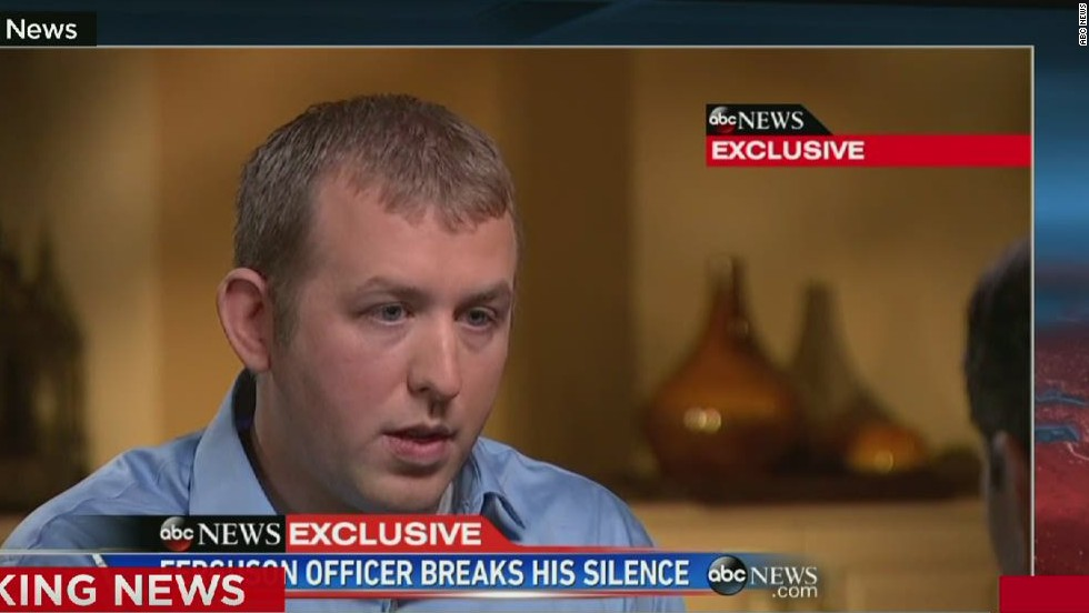 Darren Wilson says he's sorry but his conscience is clear