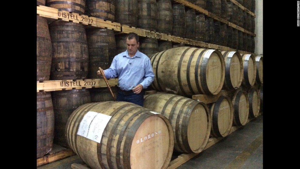 "Two hours north of Cape Town, distiller Jeff Green makes the first single grain whiskey in South Africa, the award winning ""Bain's Mountain Whisky."""