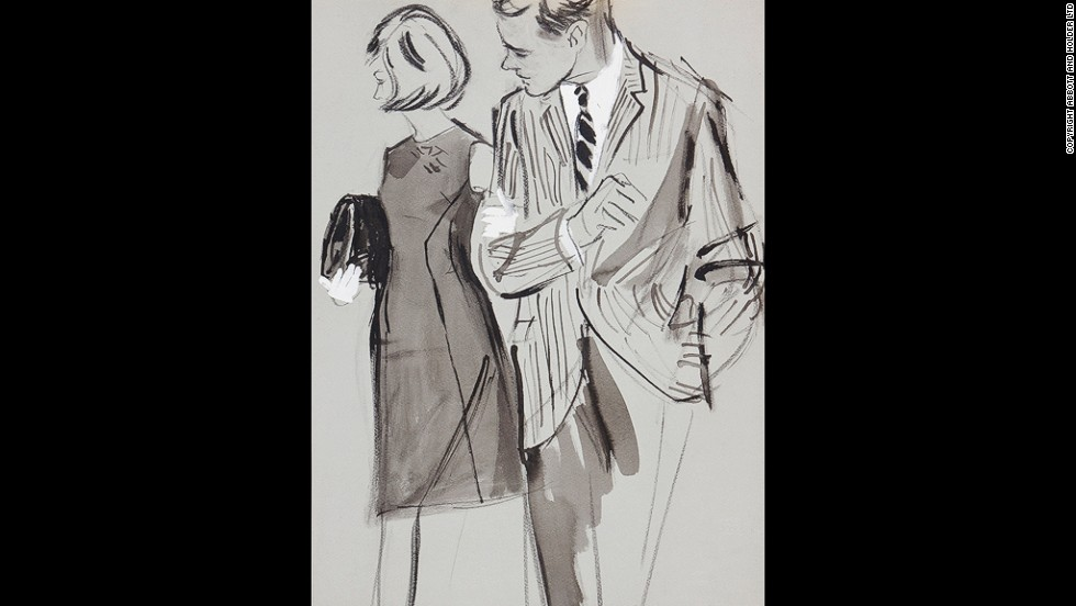 Stonehouse was a spy during the Second World War, and in 1952 became the first new illustrator taken on by Vogue since 1939.