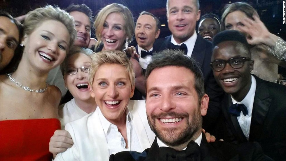 "<strong>March 2:</strong> Host Ellen DeGeneres takes a moment to orchestrate a selfie with a group of movie stars at the <a href=""http://www.cnn.com/2014/03/02/showbiz/gallery/2014-oscars-highlights/"">Academy Awards ceremony.</a> Actor Bradley Cooper, seen in the foreground, was holding the phone at the time. ""If only Bradley's arm was longer,"" <a href=""https://twitter.com/TheEllenShow/status/440322224407314432"" target=""_blank"">DeGeneres tweeted.</a> ""Best photo ever."" It became the most retweeted post of all time. <a href=""http://www.cnn.com/2014/12/05/living/gallery/2014-selfies-of-the-year/index.html"" target=""_blank"">See the year in selfies.</a>"