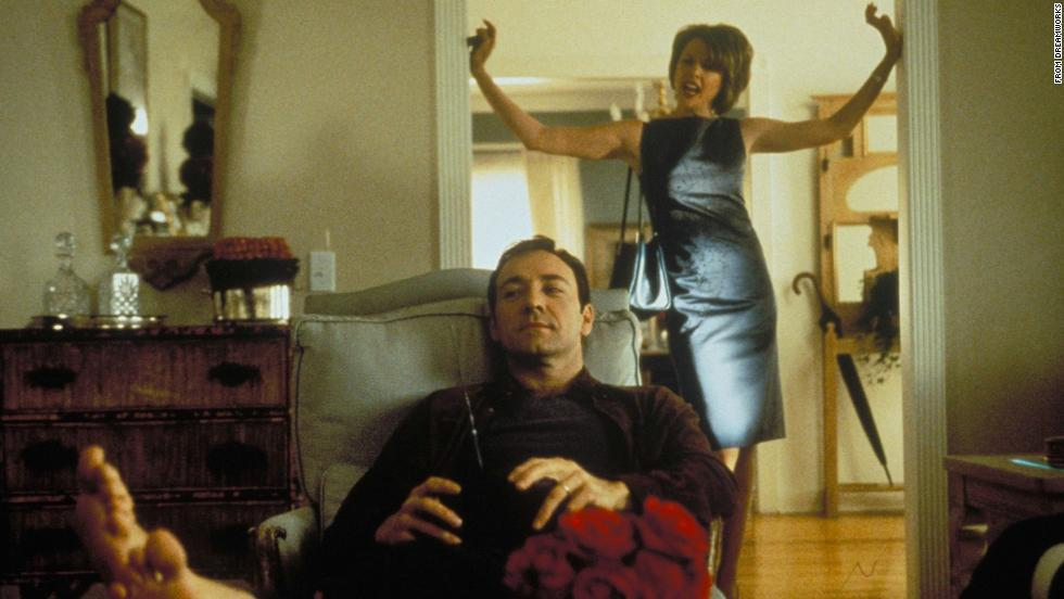 "<strong>""American Beauty"" (1999)</strong>: Kevin Spacey stars in this Oscar-winning film that tells the story of a suburban father in the middle of a midlife crisis who becomes obsessed with his teen daughter's friend. <strong>(Netflix)</strong>"