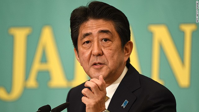 The ruling Liberal Democratic Party President and Prime Minister Shinzo Abe answers questions in Tokyo on December 1, 2014 during a debate ahead of the December 14 general election. AFP PHOTO/Toru YAMANAKATORU YAMANAKA/AFP/Getty Images