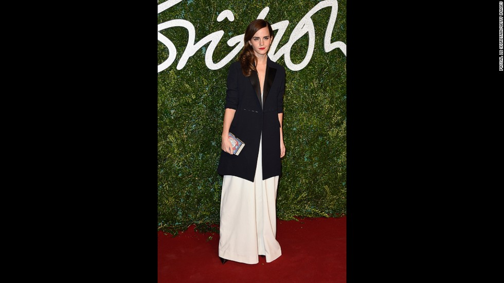 "Actress-activist Emma Watson took home the British Style Award wearing American designer <a href=""http://mishanonoo.com/"" target=""_blank"">Misha Nonoo</a>. She beat out 19 other nominees, including Benedict Cumberbatch, Kate Moss and Keira Knightley."