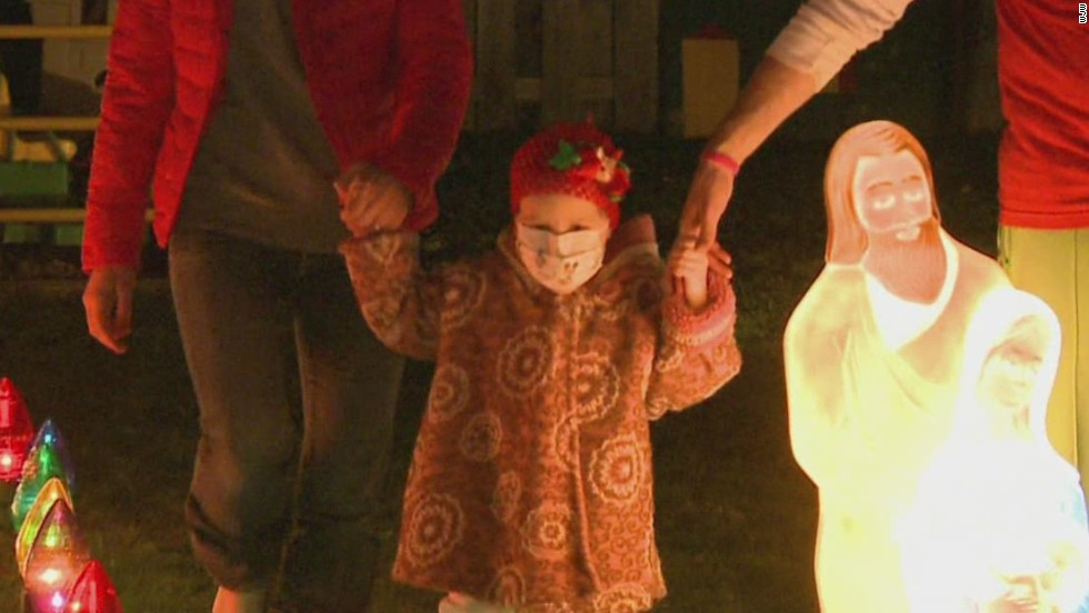 Girl battling leukemia gets winter wonderland in her backyard