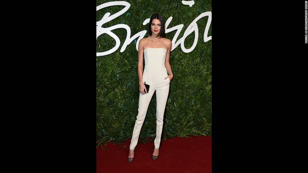 Kendall Jenner, who is quickly moving up the ranks in the modelling world, filled the night's Kardashian kuota.