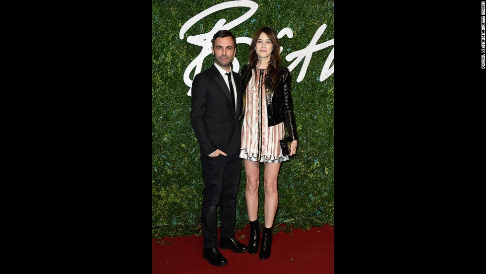 Nicolas Ghesquière, creative director of Louis Vuitton, received the award for International Designer from his long-time friend and muse Charlotte Gainsbourg.