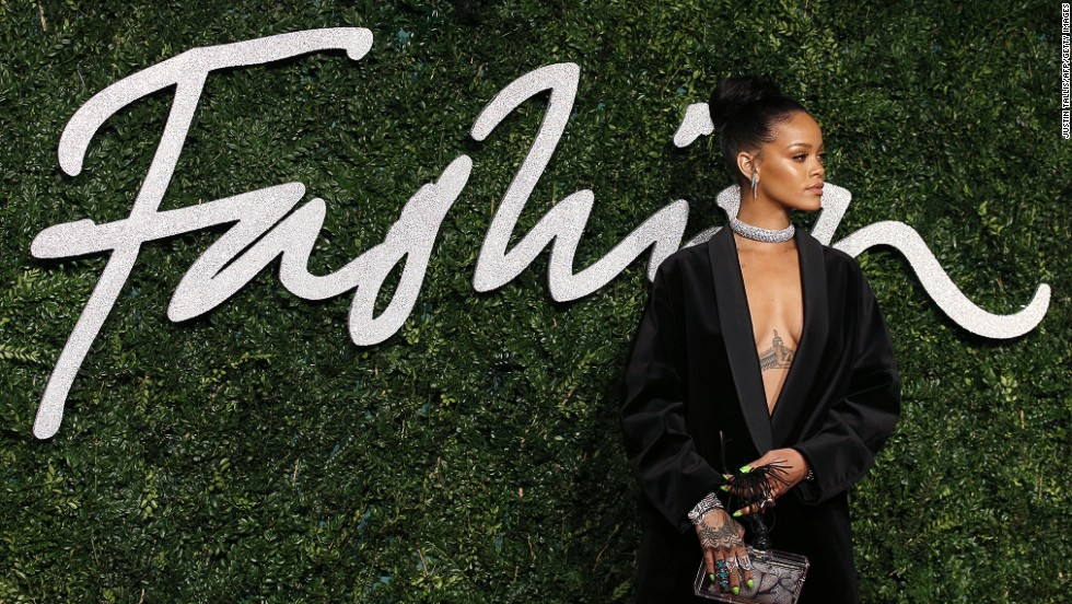 The industry types weren't the only ones attracting attention last night. Rihanna continued her reign as the red carpet's most courageous dresser in a plunging Stella McCartney blazer.