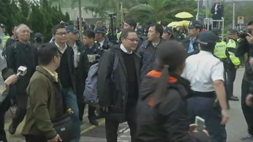 HK protest leaders turn themselves in  - CNN Video