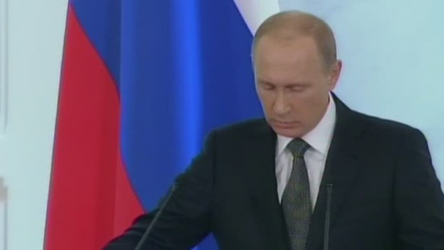 Putin takes aim at West in defiant speech