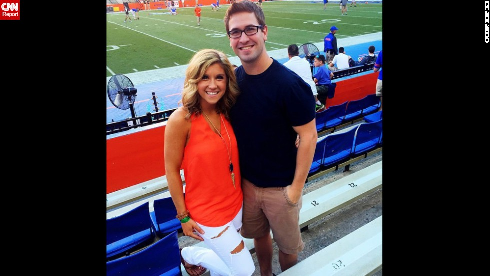 "Repeat after us: Football games are not the place to wear heels. Besides being uncomfortable, they scream ""trying too hard,"" said University of Florida fan Abbey King, left. ""You can achieve a classy/casual look without them, and stay comfortable throughout the entire day,"" she said."