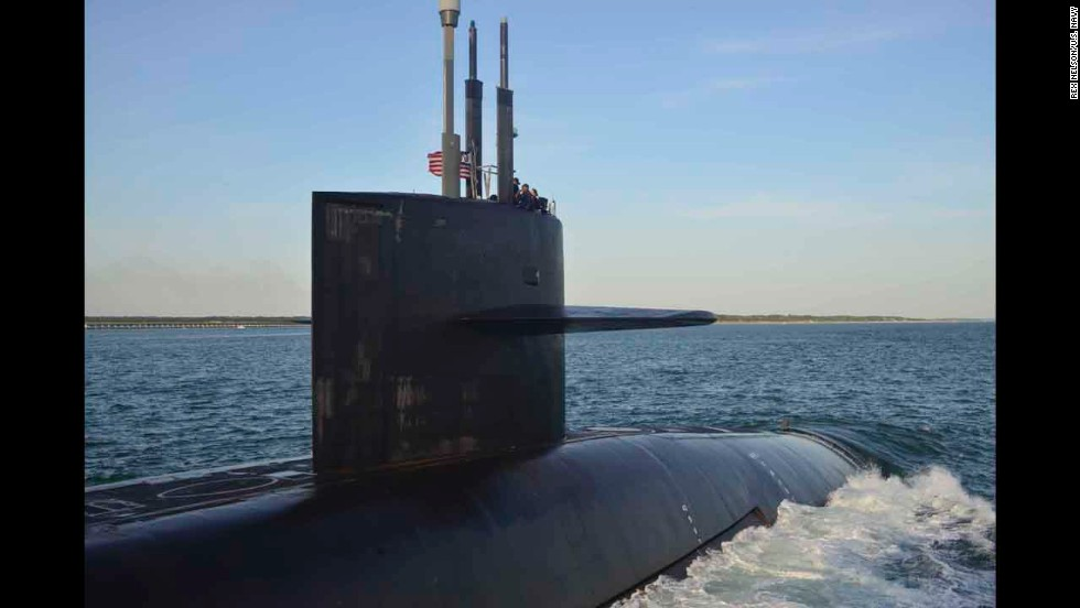Submarine investigation under way after female officers filmed