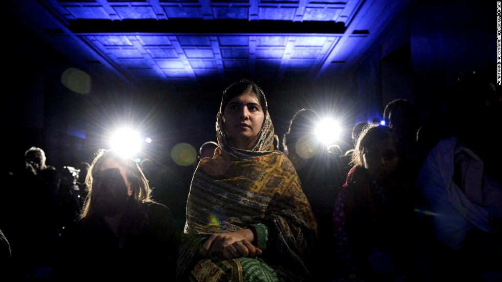 "<strong>October 29:</strong> Young activist Malala Yousafsai attends an award ceremony in Stockholm, Sweden, before receiving the World's Children Prize for the Rights of the Child. Yousafzai, 17, also <a href=""http://www.cnn.com/2014/10/10/world/europe/nobel-peace-prize/index.html"">received the Nobel Peace Prize</a> this year. Two years ago, she was shot in the head by the Taliban for her efforts to promote education for girls in Pakistan. Since then, after recovering from surgery, she <a href=""http://www.cnn.com/2013/10/10/world/gallery/malala-yousufzai/index.html"">has taken her campaign to the world stage.</a>"