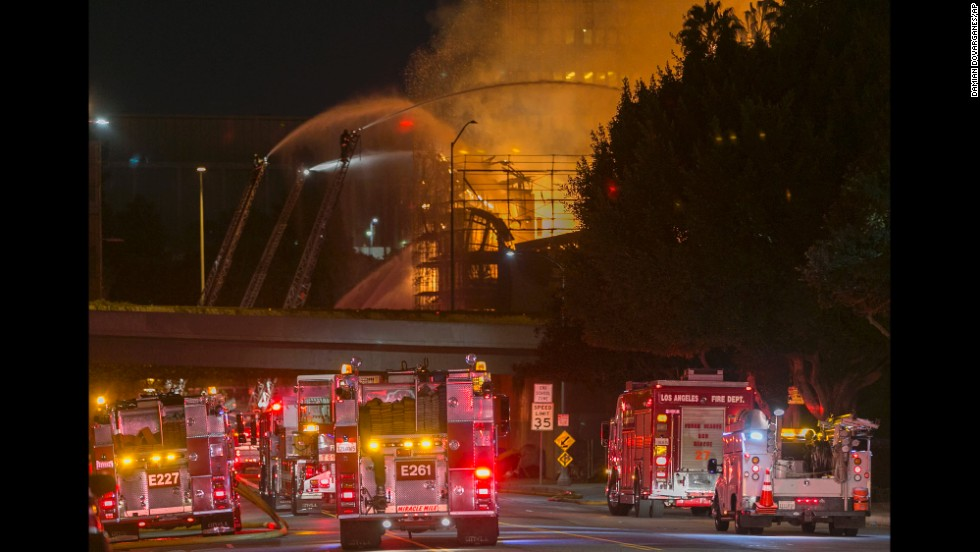 It took 250 firefighters to get the massive fire under control. No one was hurt.