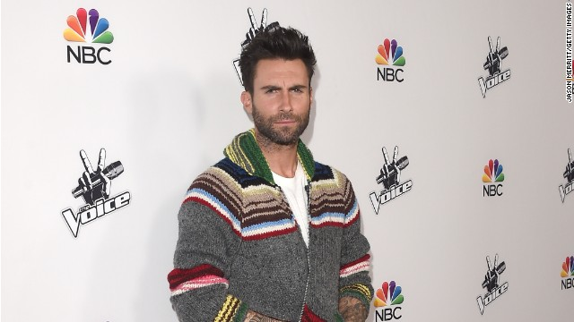 Adam Levine gets 'sugar bombed'
