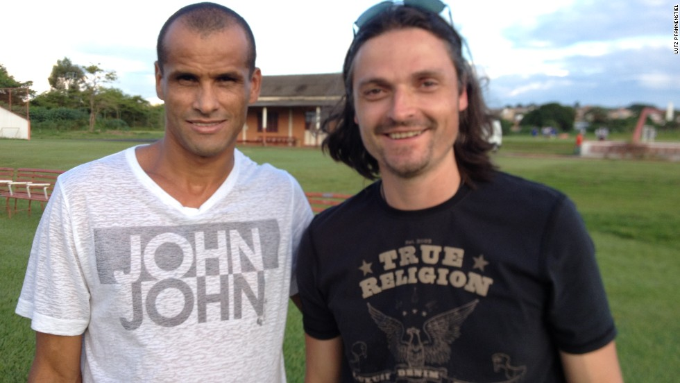 Pfannenstiel , here with former Brazil and Barcelona star Rivaldo, has used his contacts within the world of football to ensure he has copious amounts of support for his project.