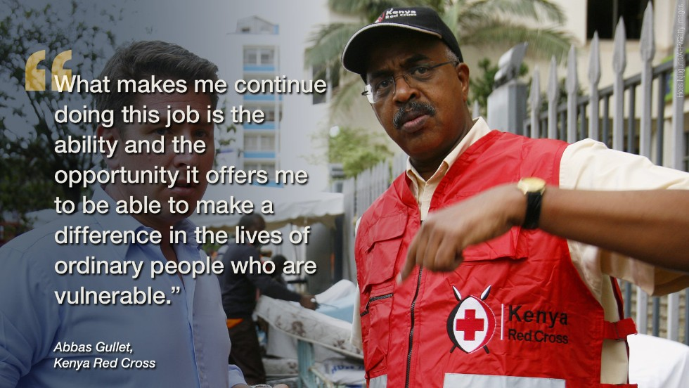 "Six months after the horrific tragedy at Westgate shopping mall, the <a href=""http://edition.cnn.com/2014/04/09/world/africa/how-would-you-handle-a-terrorist-attack/index.html"">Kenya Red Cross boss Abbas Gullet</a> sat down with CNN to reveal how he bravely faced a terrorist attack on home soil."