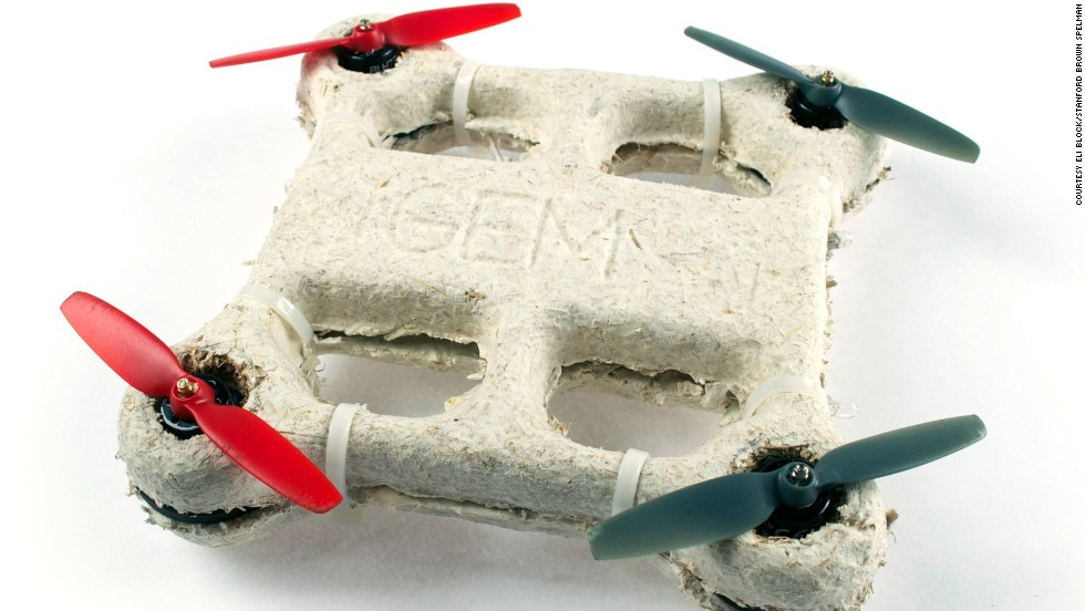This bio-drone might resemble a propeller-powered egg carton, but already the designers say it has the ability to fly into environmentally sensitive areas and leave almost no trace.