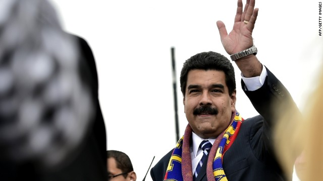 Venezuela's President Nicolas Maduro waves during the inauguration of UNASUR's headquarters, in Quito on December 5, 2014. Leaders from South American bloc UNASUR are holding a summit aimed at increasing regional integration and boosting the 12-nation group's relevance three years after its launch. AFP PHOTO / RODRIGO BUENDIARODRIGO BUENDIA/AFP/Getty Images