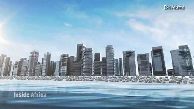 New Lagos district rises from the ocean