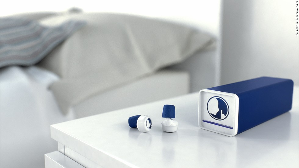 Developed as the world's first smart earplugs, Hush claims to filter unwelcome sounds while allowing important phone calls and alarms to intrude.