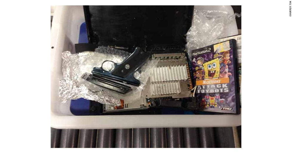 Gun packed in a PlayStation 2 gets passenger arrested