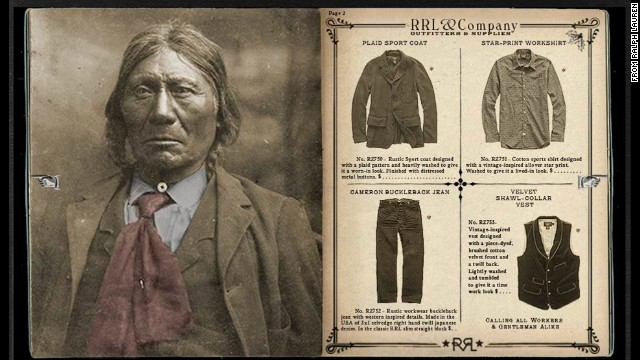 "Ralph Lauren's new holiday catalog uses images of Native American's taken during ""Assimilation Era."""