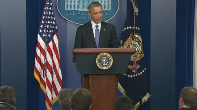 President Obama talks with CNN's Crowley