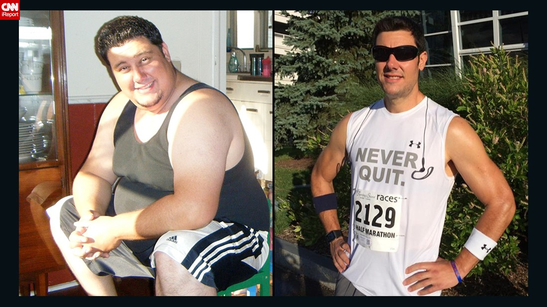 "<a href=""http://www.cnn.com/2014/07/07/health/diet-fitness/irpt-weight-loss-kerry-hoffman/"">Kerry Hoffman</a> was motivated to lose about 150 pounds to walk his young daughter down the wedding aisle someday. The day after his ""aha"" moment -- December 28, 2011 -- Hoffman joined a new gym near his house. In time, he went from not knowing how to use a treadmill to winning a triathlon."