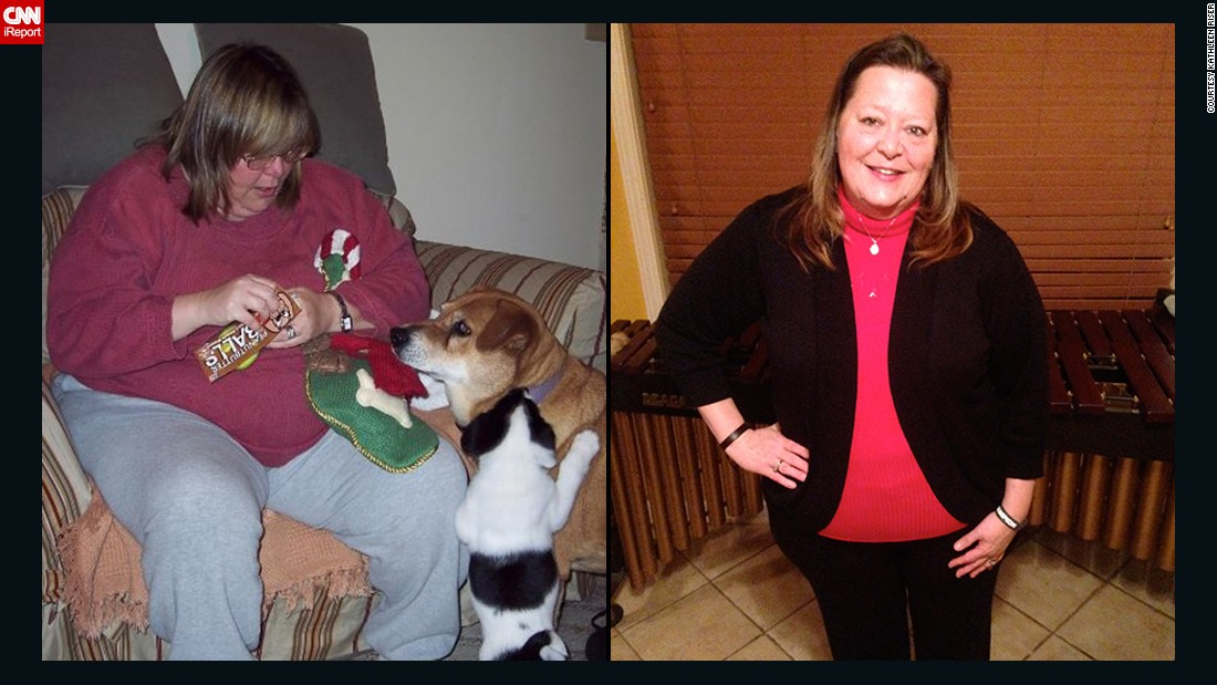 "When <a href=""http://www.cnn.com/2014/08/11/health/irpt-weight-loss-kathleen-riser/"">Kathleen Riser</a> weighed more than 380 pounds, it was hard for her to stand up without rocking or leaning on something. She found a judgment-free gym, eliminated processed foods and, with more than 200 pounds lost, proved that middle-aged women can lose weight."