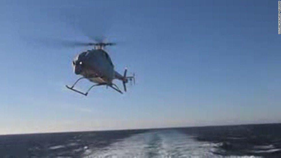U.S. Navy helicopter drone's first flight - CNN Video