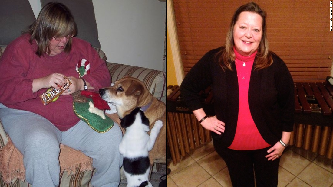 "<a href=""http://www.cnn.com/2014/08/11/health/irpt-weight-loss-kathleen-riser/"">Kathleen Riser</a> lost more than 200 pounds and proved that middle-aged women can indeed lose weight. She is proud that despite a stressful year, she didn't put on any weight in 2014. ""Normally, I would have turned to food for comfort and to relieve the stress of caring for my dying father. Not now. I conquered that fear and have replaced stress eating with workouts."""