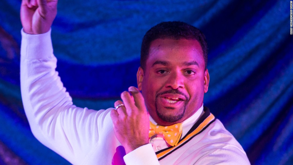 "Alfonso Ribeiro does ""the Carlton"" during the ""Dancing With The Stars: Live! Tour""  December 28 in Verona, New York."