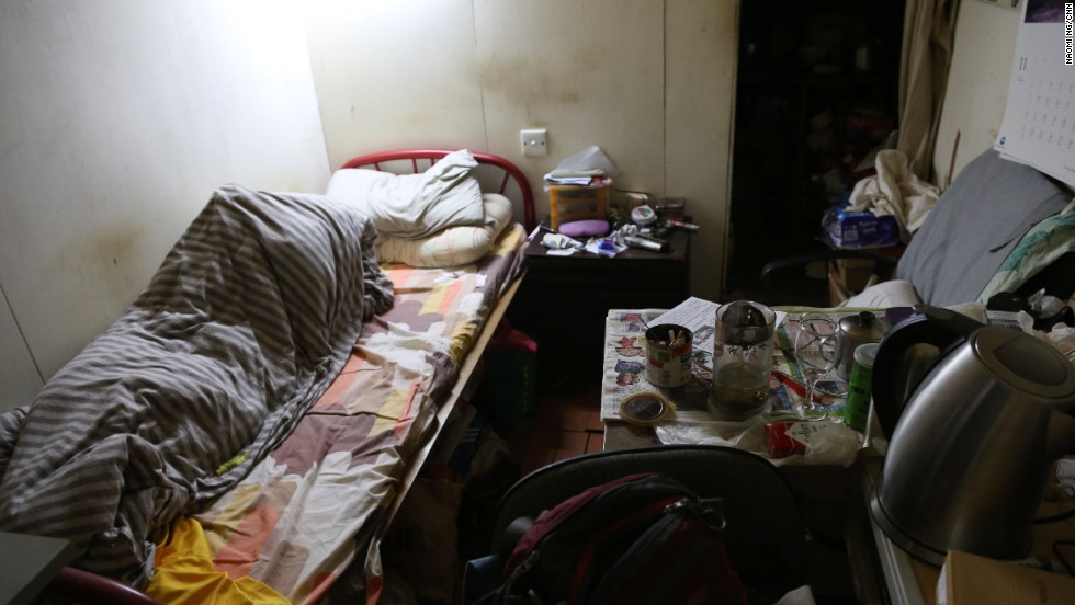 Chong, a resident in one of the rooftop dwellings in Kwun Tong, who refused to give his full name, has lived in this 70-square-foot room for 11 years.