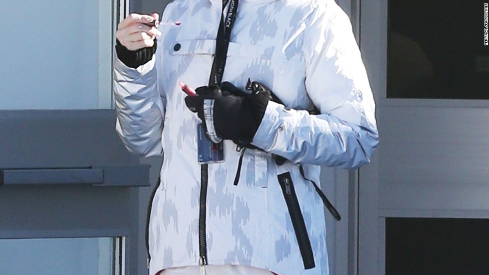 Gwen Stefani hits the slopes in Mammoth, California on December 29.