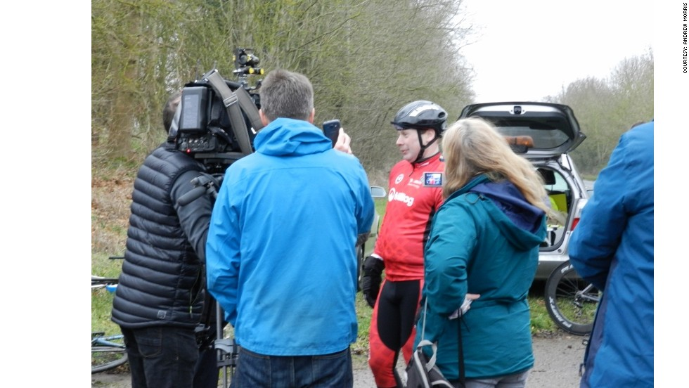 Abraham's record attempt has attracted the media's attention as he embarks on his year-long challenge.
