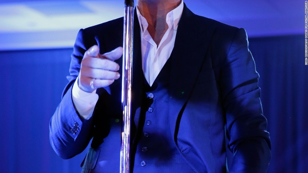 Robin Thicke on December 31 in Las Vegas, Nevada.