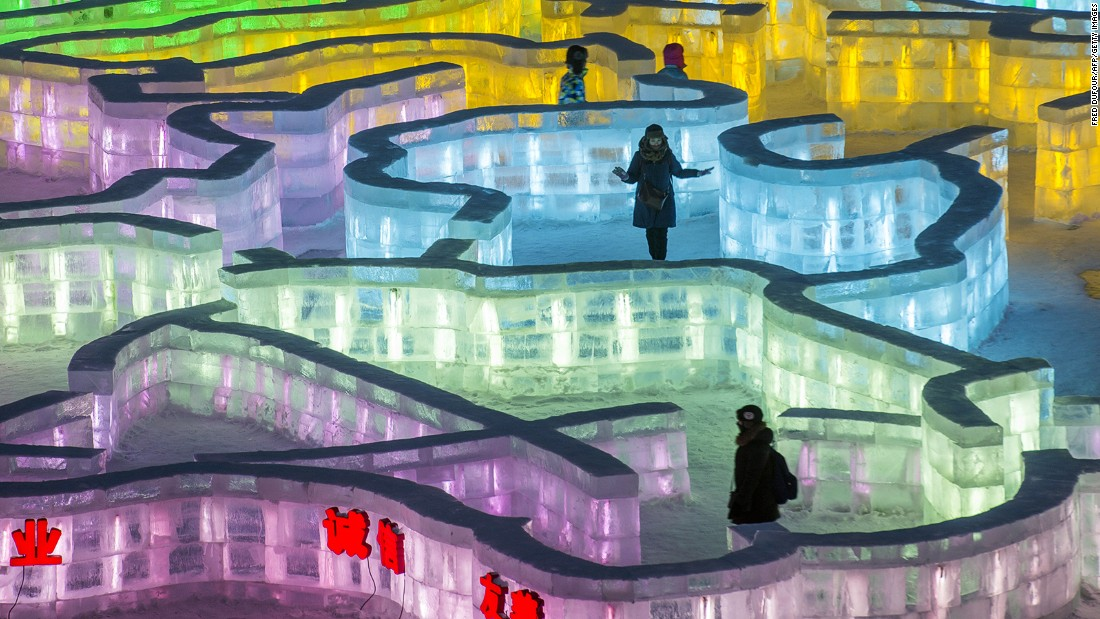The annual event, which normally runs until March, depending on weather conditions, takes place in northeast China's Heilongjiang Province. This year, a colorful ice maze offers visitors a chilly challenge.
