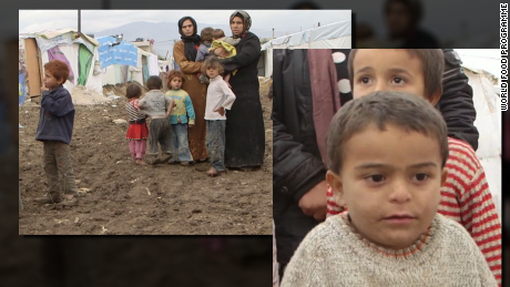Syrian refugees in Bekaa Valley, Lebanon, November 2014