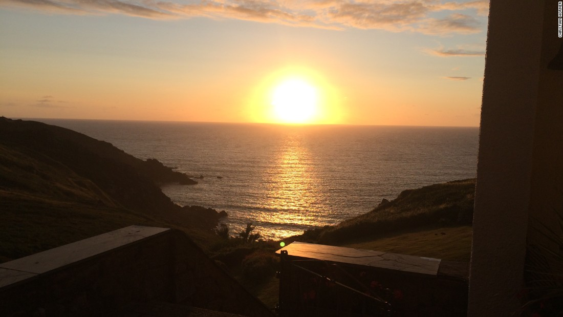 F1 is renowned for its globetrotting nature but Red Bull team principal Christian Horner prefers things closer to home and is auctioning this view from the Cornish coastline in England.